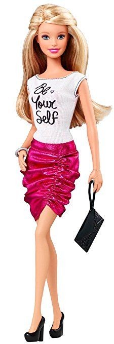 """Barbie Fashionistas Barbie Doll, Pink Skirt and """"Be Yourself"""" Shirt"""
