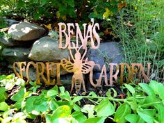 Customizable Metal Garden Art Sign-Grizzly Custom Steel on Etsy.