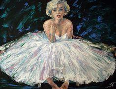 Portrait of Marylin Monroe Impressionism, Contemporary Impressionism, Fine Art, Canvas, Image, Painting, Art, Portrait, Prints