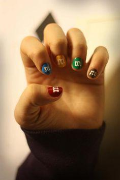 m&m; nails....really?
