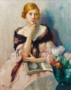 Fernand Toussaint (Belgian artist, 1873-1955) Deep in Thought