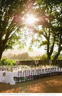 Stunning Outdoor Reception Wedding Under The Stars Via Theprettyblog Welovepictures Events