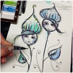 Hi, hello my dear Friends! Have you got watercolors ? Did you play with your paints yet ? I have a feeling that we all have at lea...