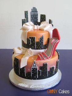 Rebekah turns 16 next year and wants a new trip- love this New York Cake
