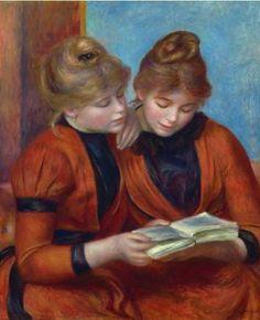 Auguste Renoir - Jeunes Filles lisant (Les Deux Sœurs)