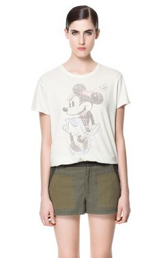 RETRO MINNIE T - SHIRT - T - shirts - Woman | ZARA United Kingdom