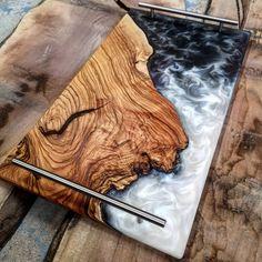 Coastline, Me, Olivewood and Epoxy, 2020 : Art Wood Resin Table, Epoxy Resin Table, Epoxy Resin Art, Diy Resin Art, Diy Resin Crafts, Wood Crafts, Diy Epoxy, Resin And Wood Diy, Stick Crafts