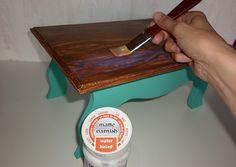 Pentart dekor: Így készíts hamis faerezetet! Decoupage
