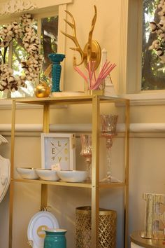 Gold Accent Shelf! Beautiful!
