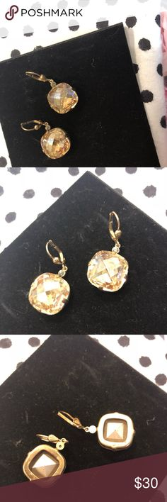 Catherine Popesco Champagne Earrings Catherine Popesco Champagne colored crystal drop earrings. Original. No paperwork or jewelry pouch. Catherine Popesco Jewelry Earrings