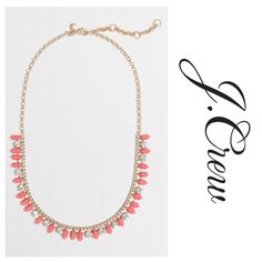 JCREW FACTORY neon thorn and crystal necklace EUC. Worn once maybe twice. Neon pink color. Extender on necklace so you can change the length. Includes J.Crew Factory dust bag. ❌no trades❌no paypal❌ J.Crew Factory Jewelry Necklaces