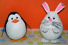 Paper Mache Penguin-  Done on a larger scale, this would be a super cute and easy pinata!