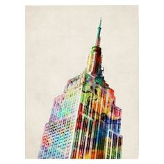 Chrysler Building Unframed Wall Canvas (33X27)