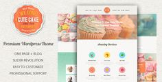 Cute Cake - Responsive One Page Wordpress Theme - Food Retail