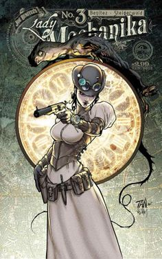 """Lady Mechanika is the newest creator-owned comic book series by American comic book artist Joe Benitez, inspired by the steampunk genre. """"Steampunk"""" is Lady Mechanika, Steampunk Kunst, Steampunk Book, Steampunk Design, Steampunk Cards, Steampunk Artwork, Comic Book Artists, Comic Artist, Comic Books Art"""
