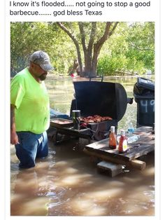 Come hell or high water, can't stop Texas BBQ!