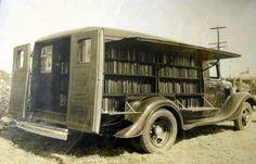 bibliothèque  itinérante .