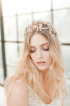 Gold & Pearl hair vine from Jannie Baltzer - The Wild Nature Collection | Love My Dress® UK Wedding Blog