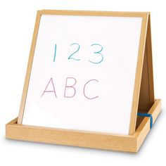 Learning Resources Doublesided Tabletop Easel Learning Resources http://www.amazon.com/dp/B001TJ2Q08/ref=cm_sw_r_pi_dp_Jgpvub1VAA6F1