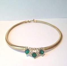 Lovely vintage 80s Nina Ricci  green and gold by VintageSoulGeek, $30.00