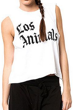 Los Animals Muscle Tee http://shop.nylon.com/collections/whats-new/products/los-animals-muscle-tee #NYLONshop