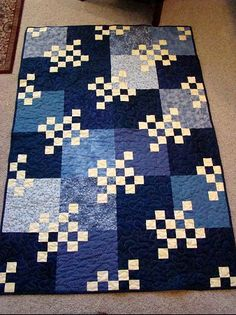 IDEA - Hot Shot Quilt by Maple Island Quilts - would look very cool with a solid grey background and marmalade in the small blocks!