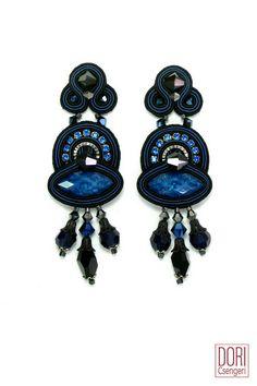 mid size earrings : Blue Glam Marquise Earrings
