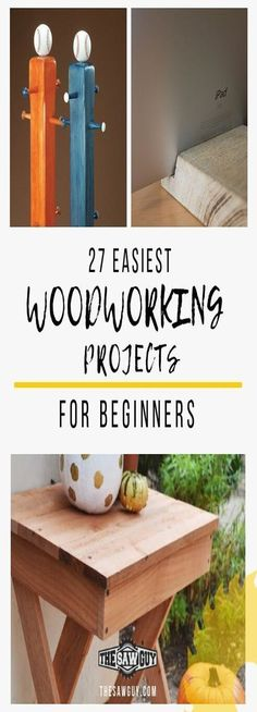 Beginner Woodworking Projects/ The finest newbie woodworking projects! We all start someplace, and for woodworkers, it's likely doing newbie woodworki... Small Woodworking Projects, Woodworking Toys, Woodworking Classes, Popular Woodworking, Woodworking Furniture, Woodworking Machinery, Woodworking Basics, Wood Furniture, Woodworking Techniques