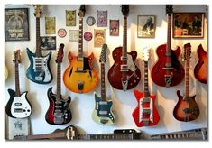Guitar Wall filled with my favorites