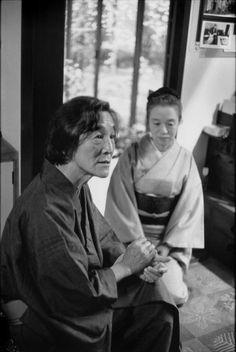 Henri Cartier-Bresson // JAPAN. Japanese photographer Hiroshi Hamaya and his wife. 1978.
