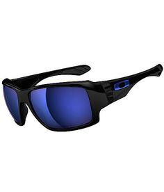 d45ff08e819 Oakley Big Taco Sunglasses with Polished Black Frame and Ice Iridium Polarized  Lenses