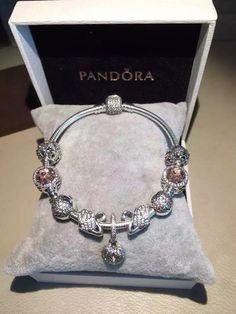 50% OFF!!! $239 Pandora Charm Bracelet Pink. Hot Sale!!! SKU: CB01801 - PANDORA Bracelet Ideas