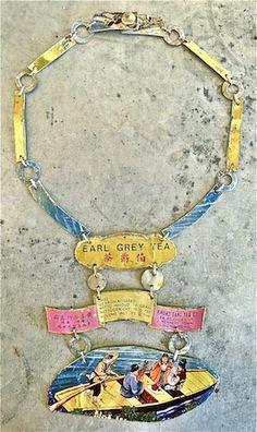 veronica guiduzzi,collana necklace,  scatola di latta per il te, 2009