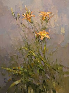 ❀ Blooming Brushwork ❀ - garden and still life flower paintings - Day-lily | Alexi Zaitsev