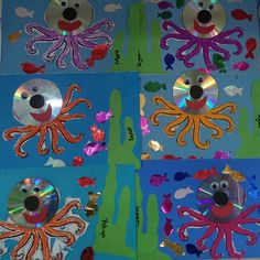 Octopus craft idea for kids – Crafts and Worksheets for Preschool,Toddler and Kindergarten