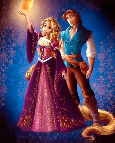 New Disney Designer Princess Collection: Rapunzel and Flynn Rider.