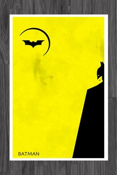 Minimalist Art Poster of Batman 11x17. $14.99, via Etsy.
