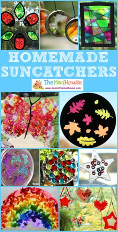 15 Stunning suncatchers for kids to make. Suncatchers are simple for children to make and look beautiful too no matter what the weather! 15 Stunning suncatchers for k Crafts For Kids To Make, Diy Crafts To Sell, Fun Crafts, Art For Kids, Nature Crafts, Sun Catchers, Summer Activities For Kids, Crafty Kids, Arts And Crafts Projects
