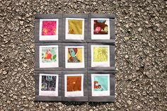 polaroid blocks - would be great with printed fabric. hmmm gift idea now forming