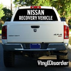 Nissan Recovery Vehicle Decal - Vinyl Decal - Car Decal - 01