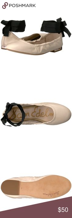 {Sam Edelman} Fallon Wraparound Flats/Modern Ivory NWOT!! Make your day a whole lot better with the Sam Edelman® Fallon. Leather upper with ankle wrap. Round toe. Man-made lining. Lightly cushioned footbed. Slip-on silhouette. Man-made outsole. Imported. Product measurements were taken using size 7.5, width M. Please note that measurements may vary by size. Weight of footwear is based on a single item, not a pair. Measurements: Heel Height: 1⁄2 in Weight: 5 oz Sam Edelman Shoes Flats…