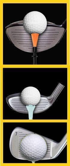 Beginner Golf Tip: Correct Tee Height for Fairway Woods, Hybrids and Irons #ImportantGolfTips #GolfingTips #GolfTips