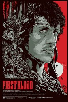 Mondo First Blood Ken Taylor Variant Print Signed Poster Rambo Film Art Best Movie Posters, Classic Movie Posters, Movie Poster Art, Gig Poster, Original Movie Posters, Classic Movies, Print Poster, Films Cinema, Cinema Posters