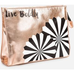 Ashley Stewart Live Boldly Metallic Make-Up Bag ($17) ❤ liked on Polyvore featuring beauty products, beauty accessories, bags & cases, ashley stewart, makeup bag case, make up bag, travel kit and travel bag