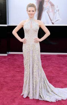 #oscarfashion 2013 Actress Amanda Seyfried arrives at the Oscars at Hollywood & Highland Center on February 24, 2013 in Hollywood, California.
