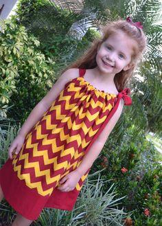 Florida State Seminoles Chevron Pillowcase by LilBambinaBoutique
