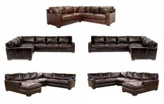 Napa Maxwell Leather Sectionals Save 10%