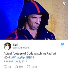 CBS Big Brother another hilarious Cody meme Big Brother Tv Show, Cbs Big Brother, Brother Memes, Funny Things, Random Things, Funny Stuff, Tv Shows Funny, Book Tv