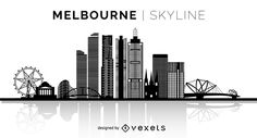 You can see the most important buildings, it& isolated and it also says Melbourne Skyline over the silhouette. Skyline Design, Skyline Art, Skyline Silhouette, Silhouette Design, Watercolor City, Watercolour, Melbourne Skyline, Skyline Tattoo, Melbourne Tattoo