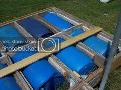 Esshups floating dock | Property Projects & Construction | Pond Boss Forum Base Nautique, Kubota Tractors, Floating Dock, Pond, Construction, Barrel, Projects, House Ideas, Floating House